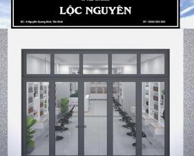 Thiết kế thi công salon tóc Lộc Nguyên - quận Tân Bình