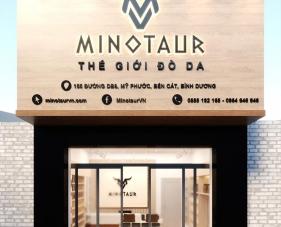 Thiết kế thi công shop giày dép Minotaur - Bình Dương