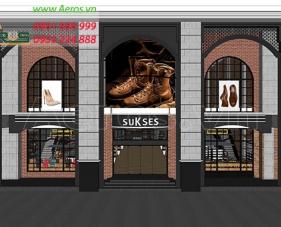 Thiết kế thi công shop giày dép Sukses - quận 3
