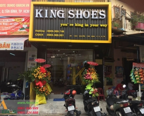 Thiết kế thi công shop giày King Shoes, Tân Bình
