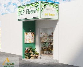 Thiết kế thi công shop hoa tươi DP Flower - Gò Vấp