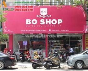 Thiết kế thi công shop mỹ phẩm Boshop, quận 1
