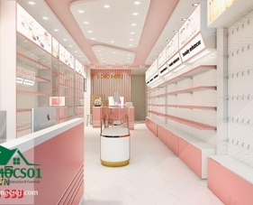 Thiết kế thi công shop mỹ phẩm của chị Hương - Bình Tân