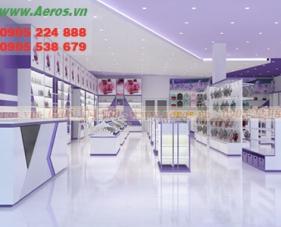 Thiết kế thi công shop mỹ phẩm HT Lavender - Bình Dương