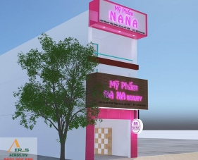 Thiết kế thi công shop mỹ phẩm Na Na - Gò Vấp