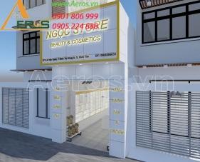Thiết kế thi công shop mỹ phẩm Ngọc Store - Bình Tân