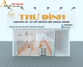 Thiết kế thi công shop mỹ phẩm Thư Đình - Đồng Nai