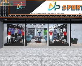 Thiết kế thi công shop thể thao NP Sport - Bình Dương