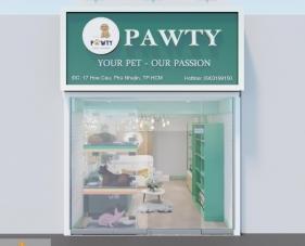 Thiết kế thi công spa thú cưng Pawty - Phú Nhuận