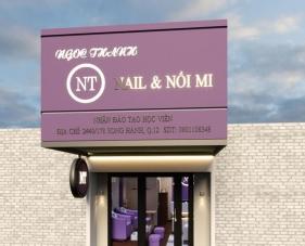 Thiết kế thi công tiệm nail và nối mi NT - quận 12