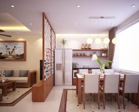 Tinh tế với cách thiết kế phòng khách và bếp liên thông