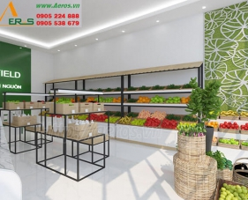 Top 10 mẫu thiết kế cửa hàng rau sạch đẹp nhất 2019